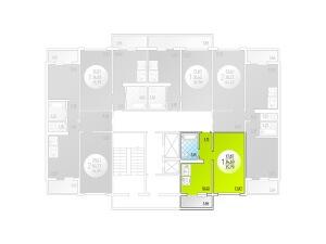 1-комнатная Цена 1.635.603 р.