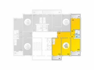 3-комнатная Цена 3.175.500 р.