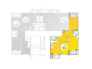 3-комнатная Цена 3.121.074 р.