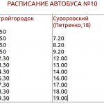 Расписание №10