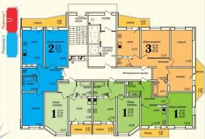 Литеры 3 и 4 подъезд 1