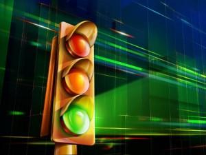 Светофор на пересечении улиц Оганова, Зрелищной и Особенной