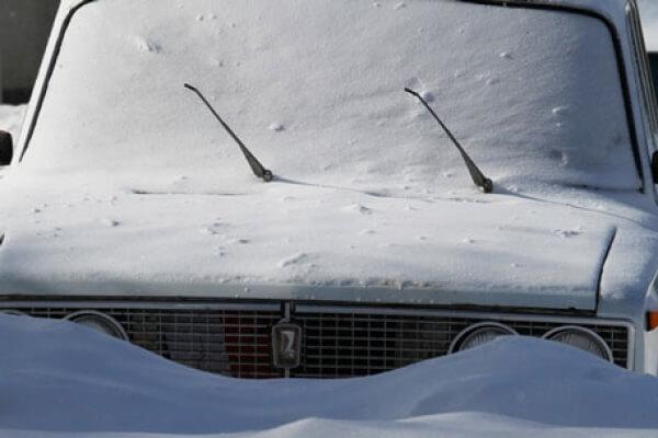 Снежные заносы на ул. Сосновая