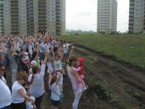 Флешмоб в ЖК Суворовском 30 мая 2015 года