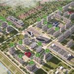 Схема районов ЖК Суворовского