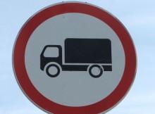 Ограничение движения для грузовиков