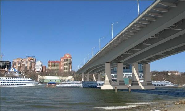 Новый Ворошиловский мост август 2015 года