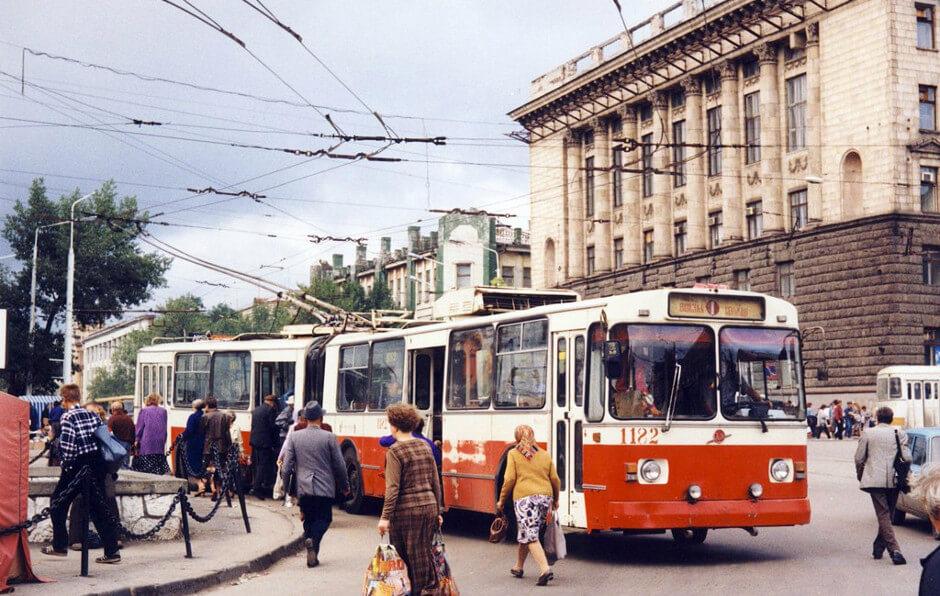 Троллейбус-гармошка в Ростове-на-Дону