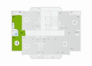 1-комнатная Цена 1.797.120 р.