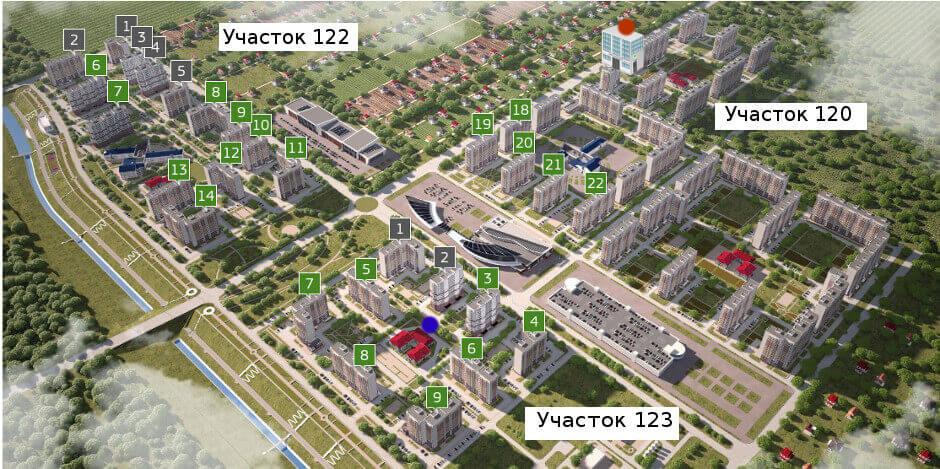 Поликлиника, детский сад и рынок в ЖК Суворовском