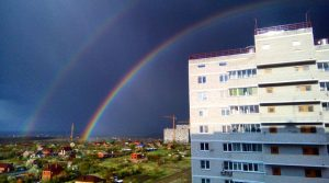 Радуга над домами ЖК Суворовского