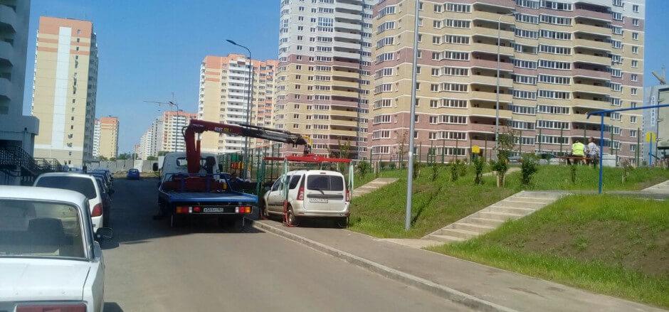 Эвакуация автомобиля в ЖК Суворовском