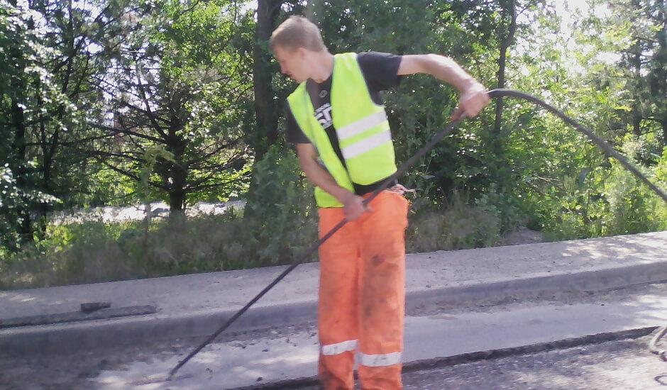 Ремонт участка улицы Вавилова около ЖК Суворовского