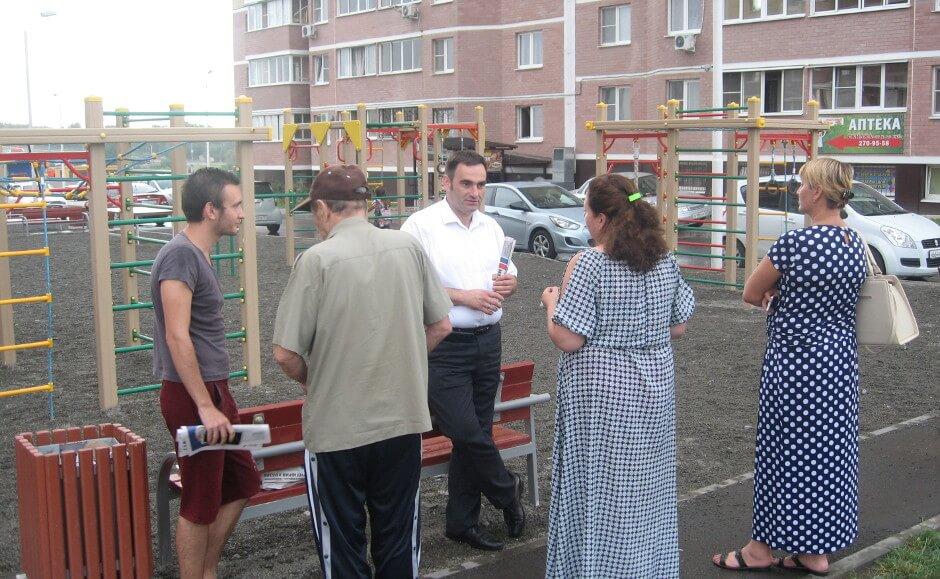 Встреча жителей ЖК Суворовского с депутатом Юрием Кобзевым