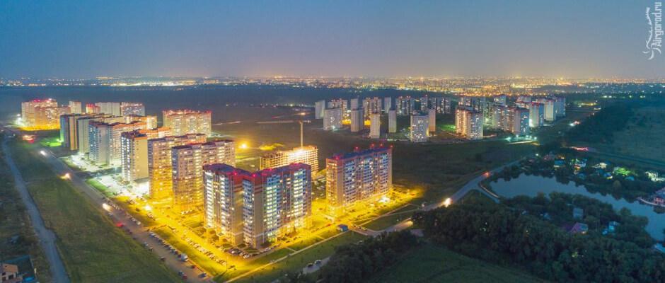 Вид на ЖК Суворовский с высоты птичьего полета