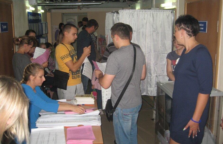 Голосование на выборах в 2016 года в ЖК Суворовском