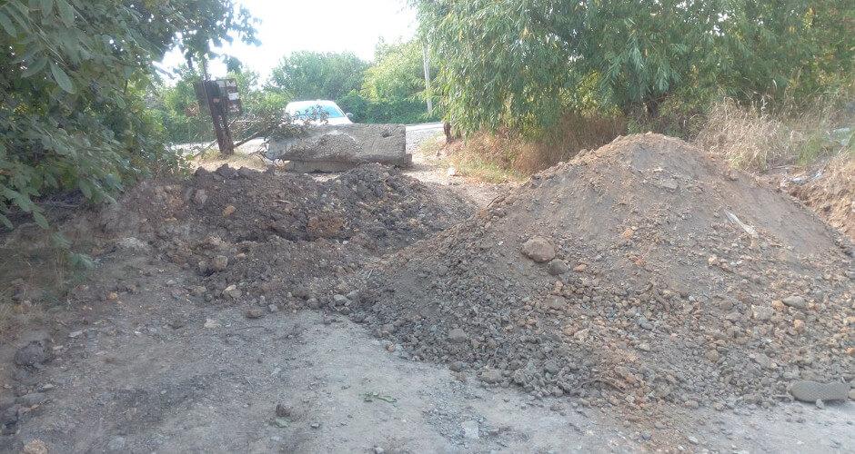 Перекопанная  дорога в Импульсе