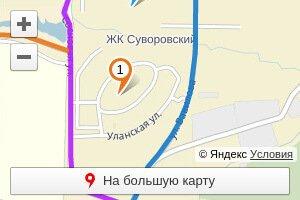 Схема проезда к ЖК Суворовскому