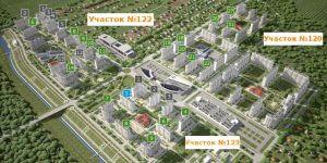 Схема микрорайонов и участков ЖК Суворовского