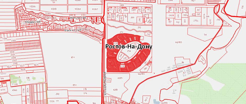 Кадастровая карта ЖК Суворовского online