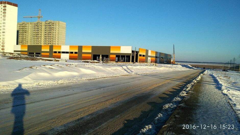 Строительство торгового центра в ЖК Суворовском