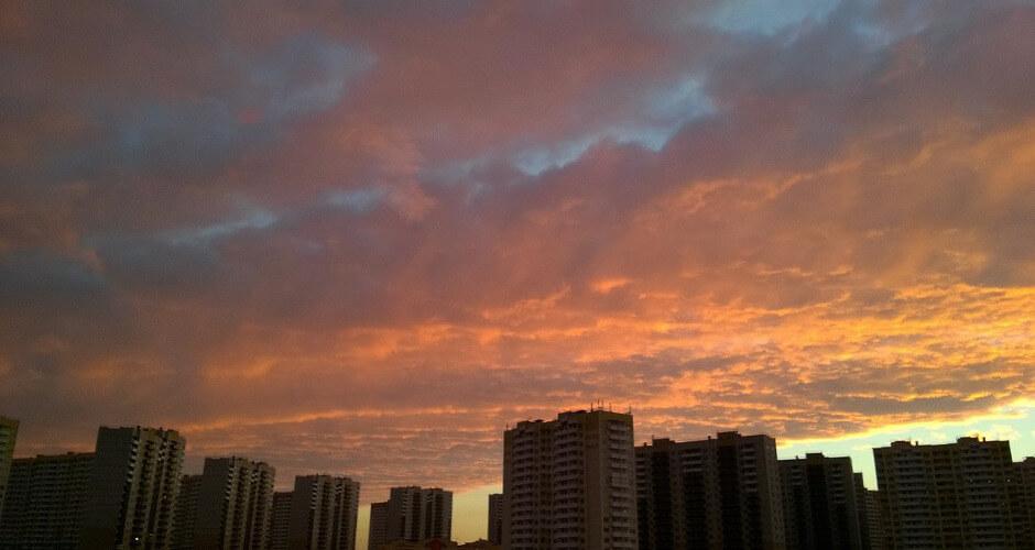 Закат над военным городком