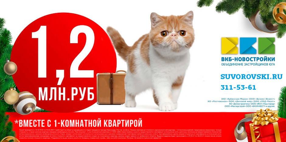 Новогодний кот для ЖК Суворовского