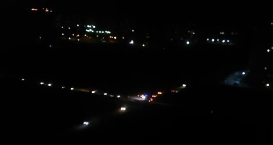 Опасный ночной перекресток в Суворовском