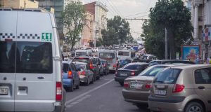 Пробки на дорогах в Ростове-на-Дону
