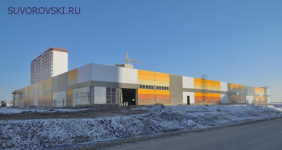 Вид на торговый центр в ЖК Суворовском