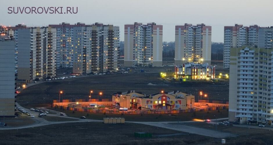 Вид на детские сады в ЖК Суворовском