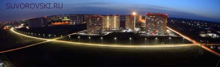Вид на освещение улицы Вавилова
