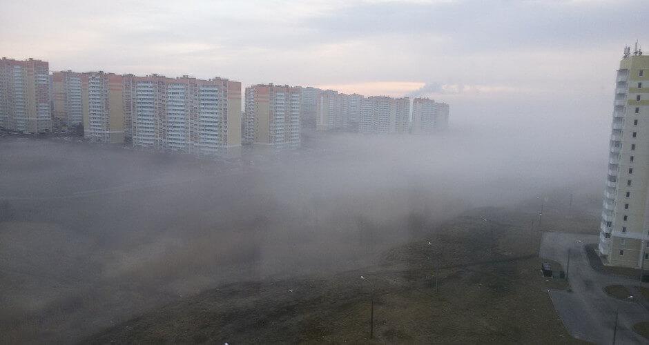 Туман в ЖК Суворовском