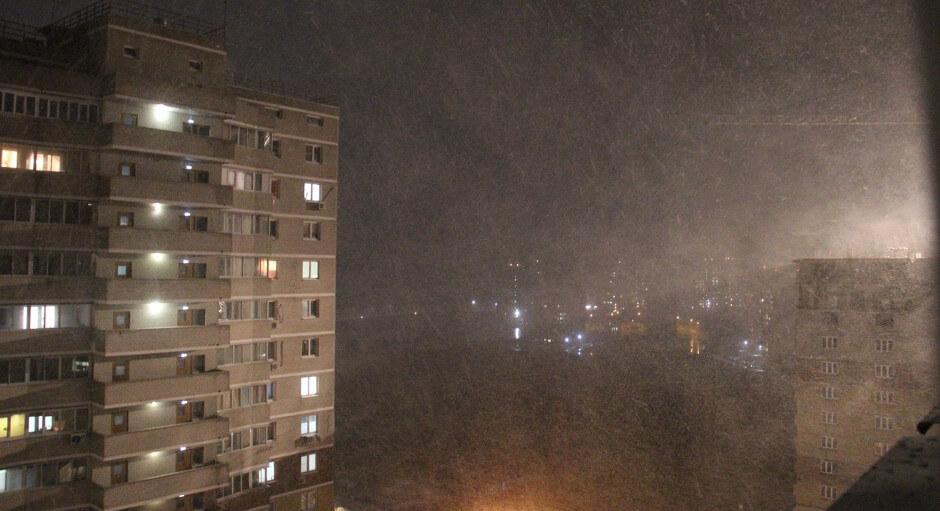 Апрельский снег 2017 в ЖК Суворовском