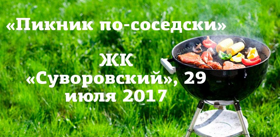 Районный пикник в ЖК Суворовском 29 июля 2017