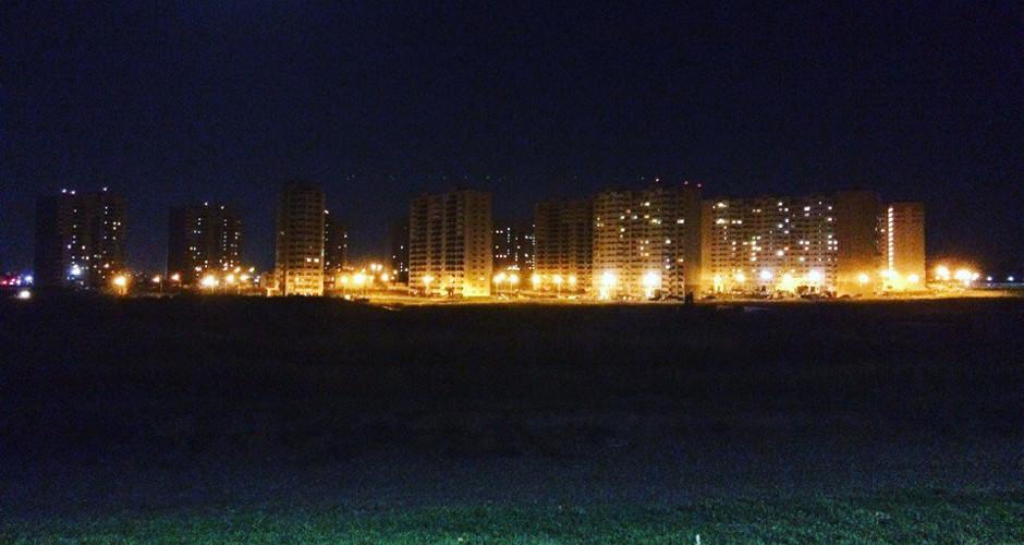 Ночное освещение 140-го военного городка