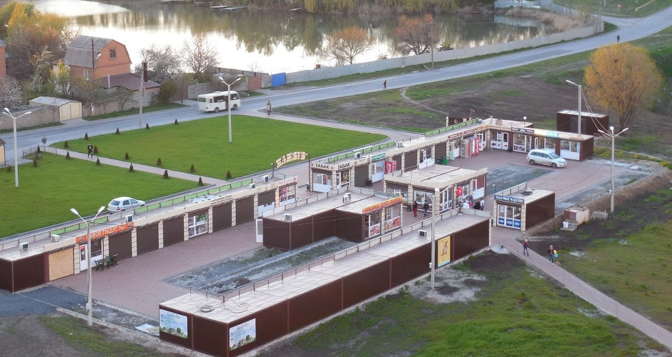 Вид на рынок Атаман в ЖК Суворовском