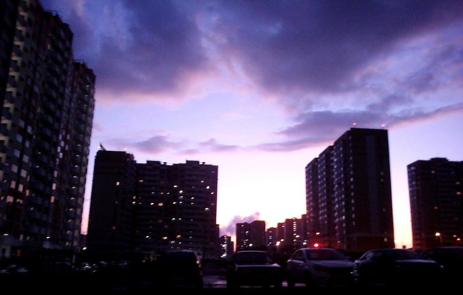 Фиолетовые краски.