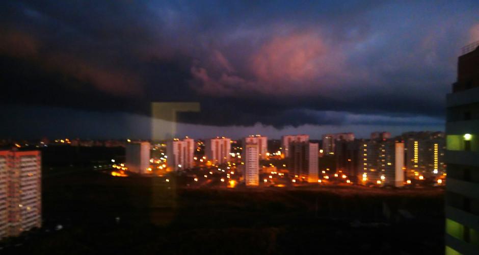Небо над 140-ым военным городком. Вид 2.
