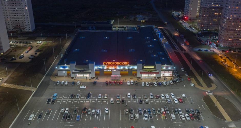 Вид на торговый центр ЖК Суворовского