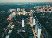 Общий вид Суворовского сверху