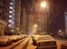 Первый снег 2017 года
