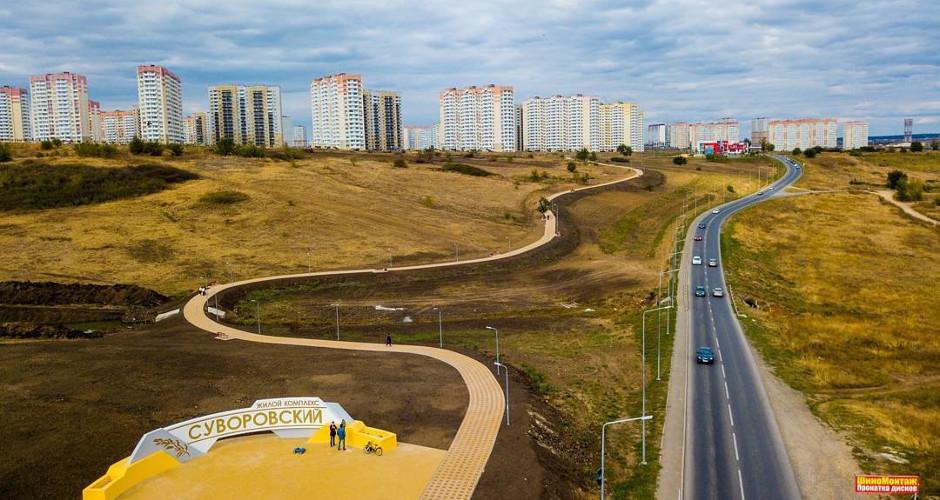 Прогулочные и велодорожки ЖК Суворовского
