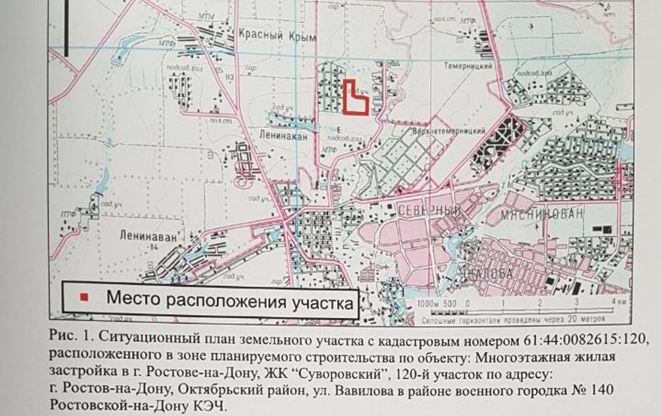 Расположение кургана могильник «Суворовский» на схеме