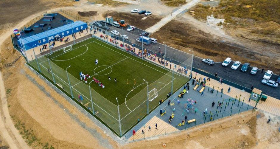 Спортивный клуб Суворов внутри района ЖК Суворовского. Карате, бокс и футбол.