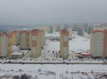 Вид с квадрокоптера на ЖК Суворовский февраль 2018 года