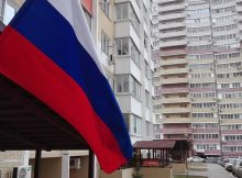Флаг над избирательным участком №2630