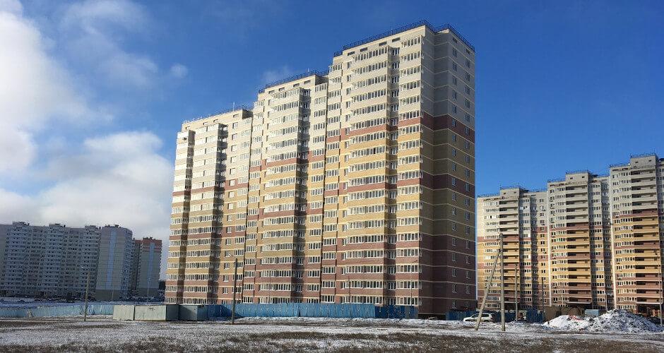 Вид на дом Литер 07 на Участке 122 ЖК Суворовского