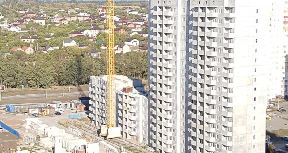 Вид на дом Литер 14 на Участке 120 ЖК Суворовского