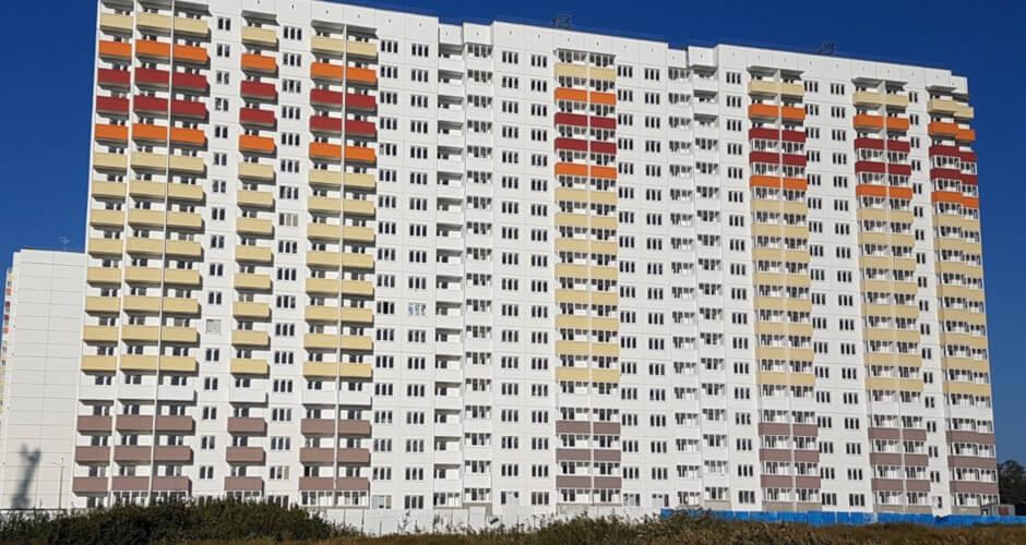 Вид на дом Литер 25 на Участке 120 ЖК Суворовского